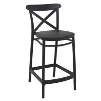 Cross Counter Stool Black