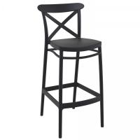 Cross Bar Stool Black