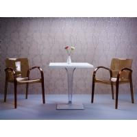 Ice Square Dining Table White Top 28 inch. ISP560-WHI - 14