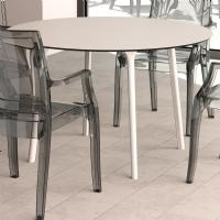 Maya Round Dining Table 47 inch White ISP675-WHI - 3