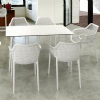Maya Rectangle Dining Table 55 inch White ISP690-WHI - 8