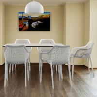 Maya Rectangle Dining Table 55 inch White ISP690-WHI - 9