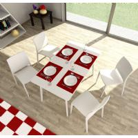 Maya Rectangle Dining Table 55 inch White ISP690-WHI - 16