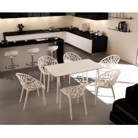 Maya Rectangle Dining Table 55 inch White ISP690-WHI - 27