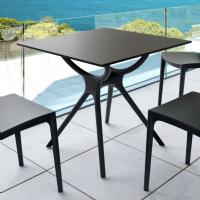 Air Square Dining Table 31 inch Black ISP700-BLA - 3