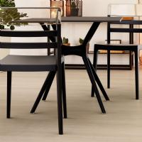 Air Square Dining Table 31 inch Black ISP700-BLA - 4