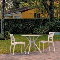Ares Dining Set with 2 Chairs White