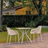 Air XL Dining Set with 2 Arm Chairs White ISP7002S-WHI