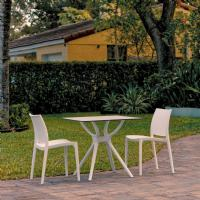 Maya Dining Set with 2 Chairs White