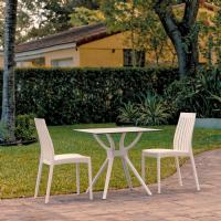Soho Dining Set with 2 Chairs White
