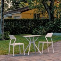 Snow Dining Set with 2 Chairs White ISP7006S-WHI