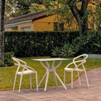 Pia Dining Set with 2 Chairs White ISP7007S-WHI