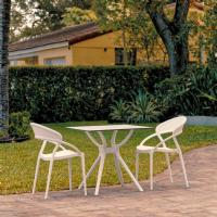 Sunset Dining Set with 2 Chairs White ISP7008S-WHI