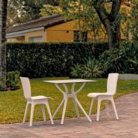 Mio Dining Set with 2 Chairs White