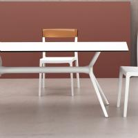 Air Rectangle Dining Table 71 inch White ISP715-WHI - 4