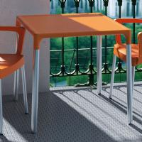 Mango Alu Square Outdoor Dining Table 28 inch Orange ISP758-ORA - 1