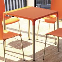 Mango Alu Square Outdoor Dining Table 28 inch Orange ISP758-ORA - 2