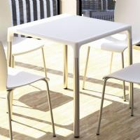 Mango Alu Square Outdoor Dining Table 28 inch White ISP758-WHI - 1