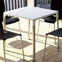 Mango Alu Square Outdoor Dining Table 28 inch White ISP758-WHI - 2
