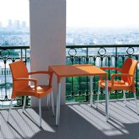 Mango Alu Square Outdoor Dining Table 28 inch Orange ISP758-ORA - 5