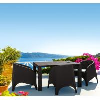 Vegas Outdoor Dining Table Extendable from 39 to 55 inch White ISP772-WH - 11