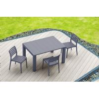 Vegas Outdoor Dining Table Extendable from 39 to 55 inch White ISP772-WH - 17