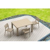 Vegas Outdoor Dining Table Extendable from 39 to 55 inch White ISP772-WH - 19