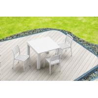 Vegas Outdoor Dining Table Extendable from 39 to 55 inch White ISP772-WH - 21