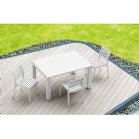 Vegas Outdoor Dining Table Extendable from 39 to 55 inch White ISP772-WH - 22