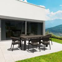 Vegas Outdoor Dining Table Extendable from 70 to 86 inch Dark Gray ISP774-DG - 11
