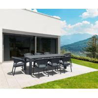Vegas Outdoor Dining Table Extendable from 70 to 86 inch Dark Gray ISP774-DG - 14