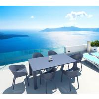 Vegas Outdoor Dining Table Extendable from 70 to 86 inch Dark Gray ISP774-DG - 22