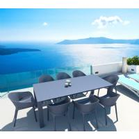 Vegas Outdoor Dining Table Extendable from 70 to 86 inch White ISP774-WH - 23