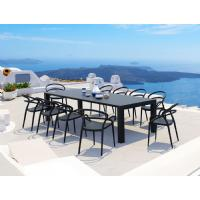 Vegas Outdoor Dining Table Extendable from 102 to 118 inch Dark Gray ISP776-DG - 7