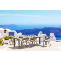 Vegas Outdoor Dining Table Extendable from 102 to 118 inch Dark Gray ISP776-DG - 14