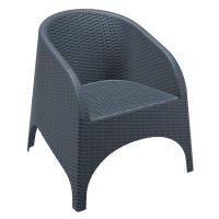 Aruba Wickerlook Chair Dark Gray ISP804-DG