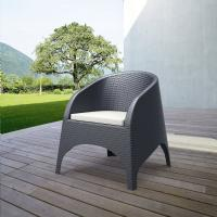 Aruba Wickerlook Chair Dark Gray ISP804-DG - 6