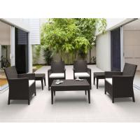 California Wickerlook Resin Patio Seating Set 7 Piece Brown ISP8062S-BR - 1