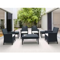 California Wickerlook Resin Patio Seating Set 7 Piece Brown ISP8062S-BR - 2