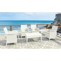California Wickerlook Resin Patio Seating Set 7 Piece White ISP8062S-WH - 8