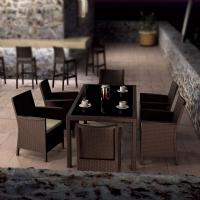 California Wickerlook Resin Patio Dining Set 7 Piece Brown