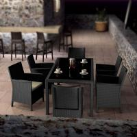 California Wickerlook Resin Patio Dining Set 7 Piece Dark Gray