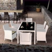California Wickerlook Resin Patio Dining Set 7 Piece White