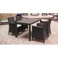 California Wickerlook Resin 55 inch Patio Dining Set 5 Piece Brown ISP8064S-BR - 3