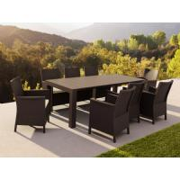 California Extendable Dining Set 9 Piece Brown ISP8066S-BR - 3