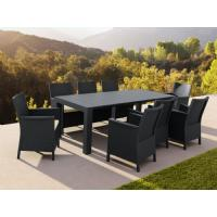 California Extendable Dining Set 9 Piece Brown ISP8066S-BR - 4