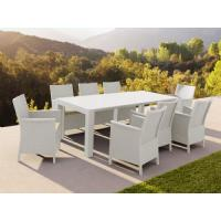 California Extendable Dining Set 9 Piece White ISP8066S-WH - 5