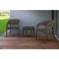 Panama Wickerlook Bistro Set 3 Piece Brown ISP8081S-BR - 3