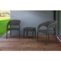 Panama Wickerlook Bistro Set 3 Piece White ISP8081S-WH - 4