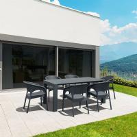 Panama Extendable Patio Dining Set 7 piece Dark Gray